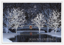 Cityscape Glow Holiday Cards